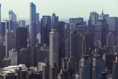 Orizzonte di Manhattan - di New York da sopra Immagini Stock