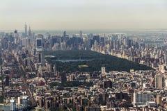 Orizzonte di Manhattan - di New York da sopra Fotografia Stock Libera da Diritti