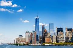 Orizzonte di Manhattan di panorama di New York Fotografie Stock Libere da Diritti