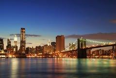 Orizzonte di Manhattan a New York City Fotografia Stock Libera da Diritti