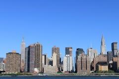 Orizzonte di Manhattan, New York City Fotografia Stock Libera da Diritti