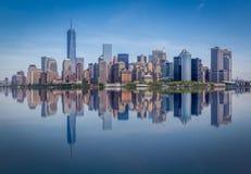 Orizzonte di Manhattan, Manhattan, New York, U.S.A. Immagine Stock Libera da Diritti
