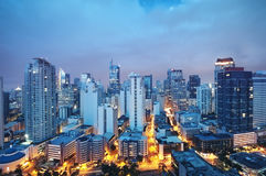 Orizzonte di Manila, Filippine Immagine Stock
