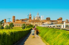 Orizzonte di Mantova, Lombardia, Italia Fotografia Stock Libera da Diritti
