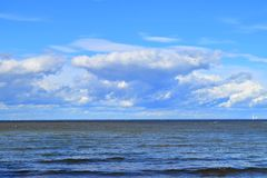 Orizzonte di mare Fotografia Stock