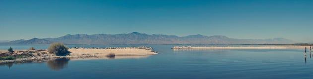 Orizzonte di mare di Salton fotografia stock