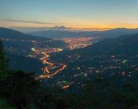 Orizzonte di Medellin Fotografie Stock