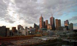 Orizzonte di Melbourne Fotografia Stock