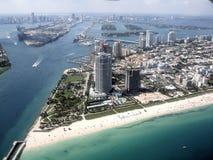 Orizzonte di Miami Fotografie Stock Libere da Diritti