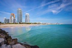 Orizzonte di Miami Beach Fotografia Stock Libera da Diritti