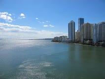 Orizzonte di Miami del centro, Florida Fotografie Stock