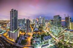Orizzonte di Miami Florida Fotografie Stock Libere da Diritti