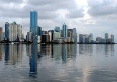 Orizzonte di Miami un giorno calmo Fotografia Stock Libera da Diritti