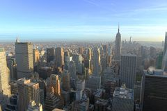 Orizzonte di Midtown di Manhattan, New York Fotografia Stock Libera da Diritti