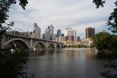 Orizzonte di Minneapolis Immagine Stock