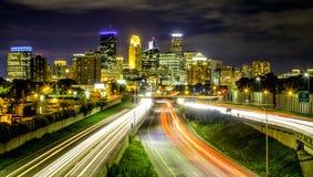 Orizzonte di Minneapolis Fotografie Stock