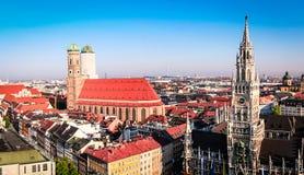 Orizzonte di Monaco di Baviera Fotografia Stock Libera da Diritti