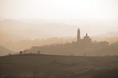 Orizzonte di Monferrato, Italia fotografia stock