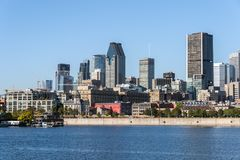 Orizzonte di Montreal Fotografie Stock