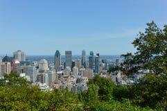 Orizzonte di Montreal di estate Fotografie Stock Libere da Diritti