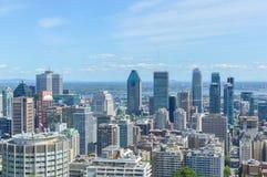 Orizzonte di Montreal di estate Immagine Stock Libera da Diritti