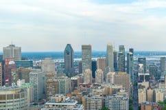 Orizzonte di Montreal di estate immagine stock