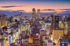 Orizzonte di Nagoya, Giappone fotografia stock