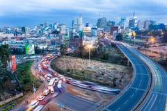 Orizzonte di Nairobi Fotografia Stock