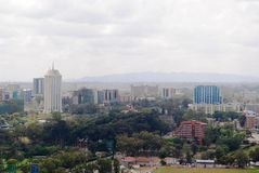 Orizzonte di Nairobi Kenya Immagini Stock