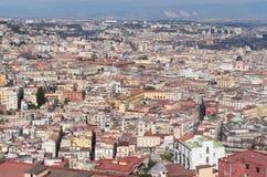 Orizzonte di Napoli, Italia Immagini Stock Libere da Diritti