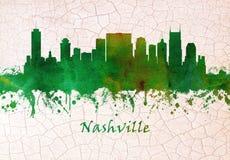 Orizzonte di Nashville Tennessee illustrazione di stock