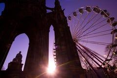 Orizzonte di natale di Edinburgh Immagini Stock