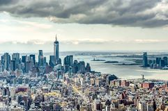 Orizzonte di New York City immagine stock