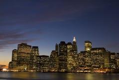 Orizzonte di New York City Fotografia Stock Libera da Diritti
