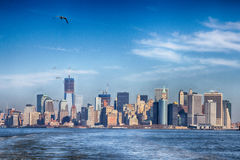 Orizzonte di New York City Fotografia Stock