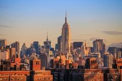 Orizzonte di New York City Immagini Stock Libere da Diritti