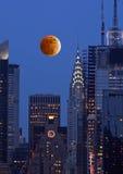 Orizzonte di New York City del Th Immagine Stock