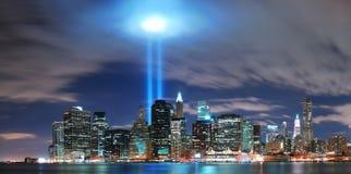 Orizzonte di New York City Manhattan Fotografie Stock Libere da Diritti