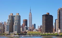Orizzonte di New York con Empire State Building Immagine Stock