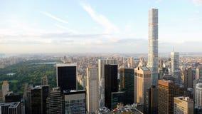 Orizzonte di New York con il Central Park dalla torre dell'antera Fotografia Stock Libera da Diritti