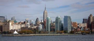 Orizzonte di New York con l'impero Fotografie Stock
