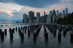 Orizzonte di New York da Brooklin immagini stock