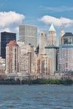 Orizzonte di New York dal New Jersey Fotografia Stock Libera da Diritti