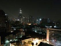 Orizzonte di notte di Bangkok Fotografia Stock