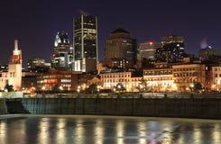 orizzonte di notte di Montreal Immagini Stock Libere da Diritti