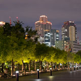 Orizzonte di notte di Osaka Fotografie Stock