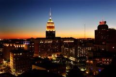 Orizzonte di notte di San Antonio Fotografia Stock