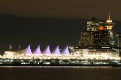 Orizzonte di notte di Vancouver Fotografia Stock