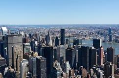 Orizzonte di NYC dalle Empire State Building Immagine Stock Libera da Diritti