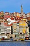 Orizzonte di Oporto, colpo verticale Fotografie Stock Libere da Diritti